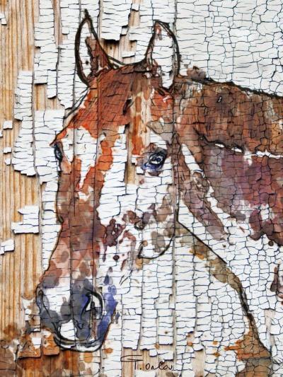 Irena Orlov 40x60 Mixed Media on Canvas The Observer