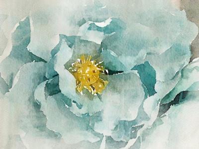 Irena Orlov Aqua Green Dream Mixed Media on Canvas 60 x 40