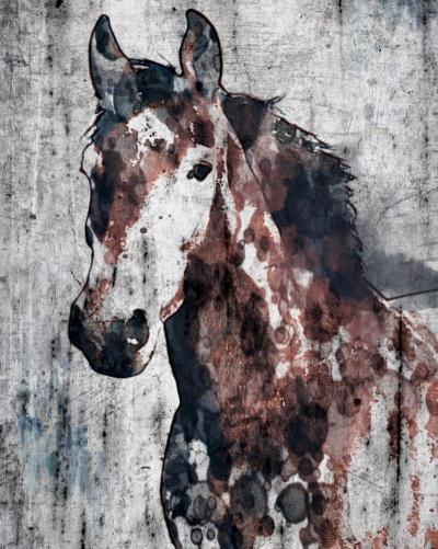 Irena Orlov Brown Ranger horse 40x6 Mixed Media