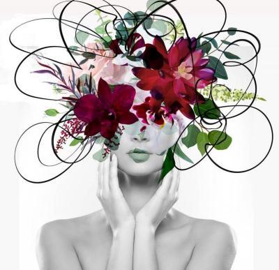 Irena Orlov Equivalent exchange 19 Floral Head