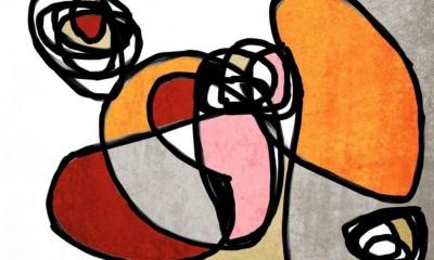 Irena Orlov MidCentury Modern Mixed Media on Canvas 40 X 60 Vibrant Colorful Abstract 6857