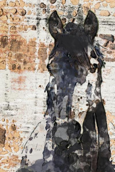 Irena Orlov Night Knight Horse 40x60 Mixed Media