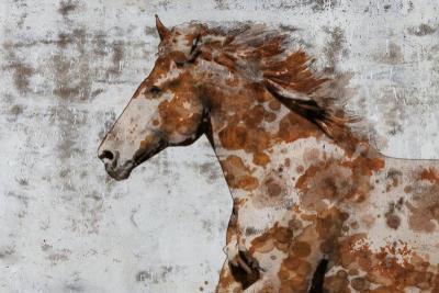 Irena Orlov Palomino paints 40x60 Mixed Media