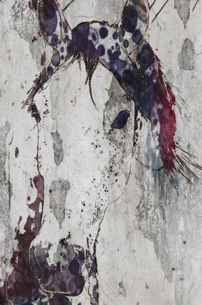 Irena Orlov Purple Horse 40x60 Mixed Media