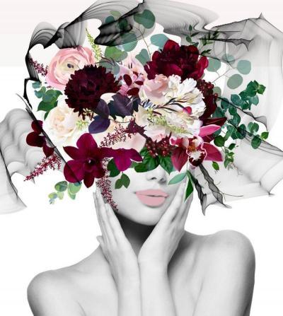 Irena Orlov Woman Floral Portrait