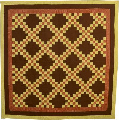Irish Chain Quilt Circa 1880 Pennsylvania