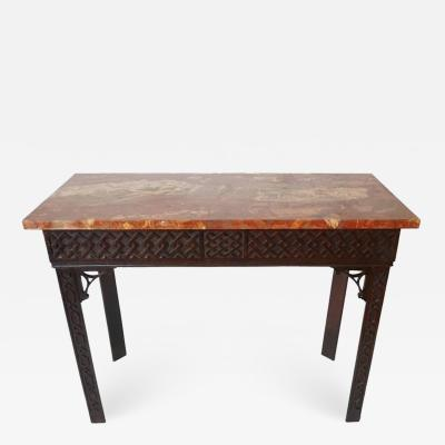 Irish Chippendale Carved Mahogany Side Table circa 1760