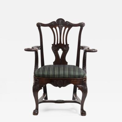 Irish Mahogany Armchair by Butler of Dublin Circa 1830