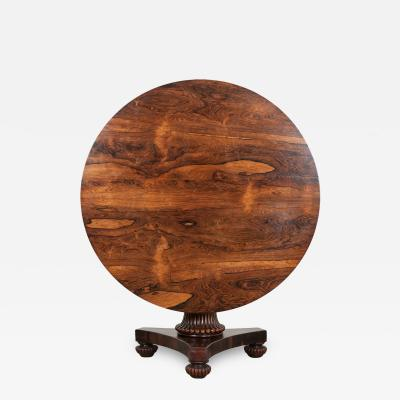 Irish Regency Rosewood Tilt Top Center Table