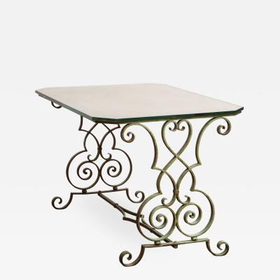 Iron Scrollwork Side Table