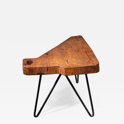 Iron and Pine Coffee Table France 1950s