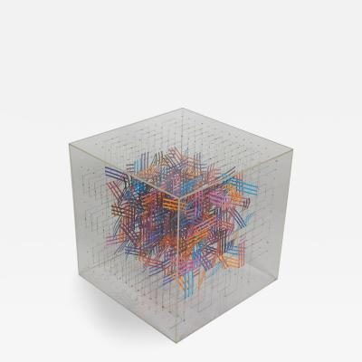 Irving Harper Irving Harper Paper and String Sculpture in Acrylic Box