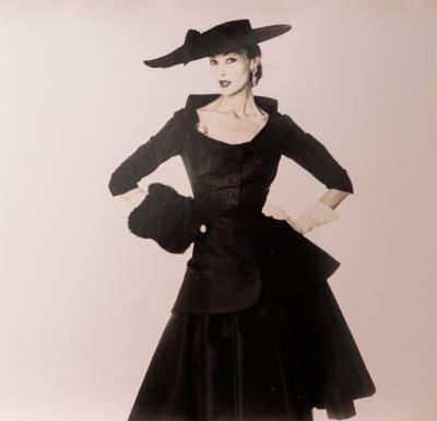 Irving Penn Fashion Study Black Hat and Dress ca 1949