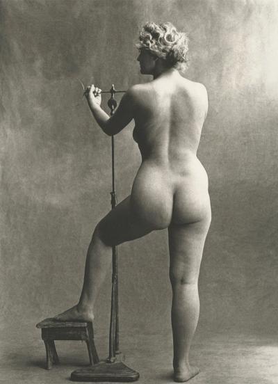 Irving Penn Sculptors Model Paris 1950
