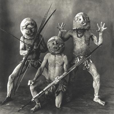 Irving Penn Three Asaro Mudmen New Guinea 1970