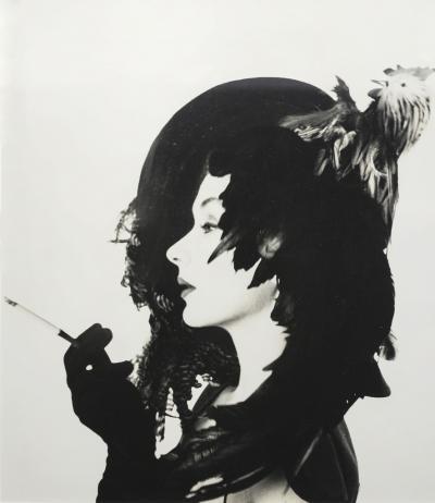 Irving Penn Woman in Chicken Hat Lisa Fonssagrives Penn New York ca 1949