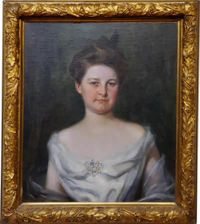 Irving Ramsey Wiles A Society Matron is a Portrait of a Woman by Irving Ramsey Wiles