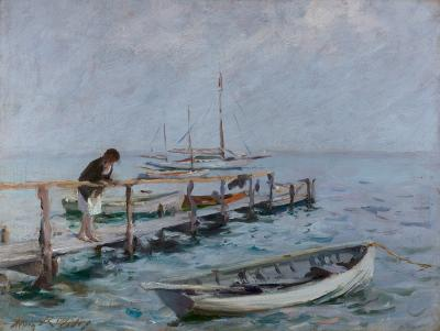 Irving Ramsey Wiles On the Dock