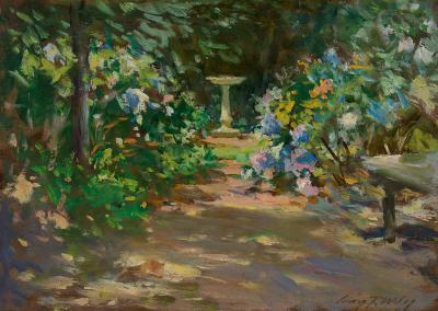 Irving Ramsey Wiles Pathway in the Garden