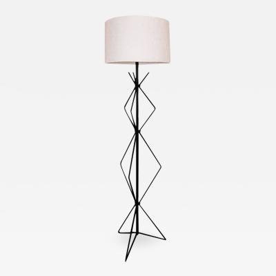 Irwin Feld BLACKENED STEEL FLOOR LAMP