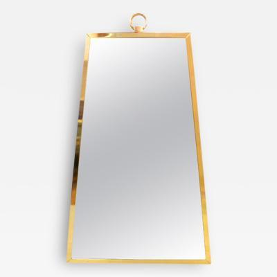 Irwin Feld Brass Trapezoid Mirror