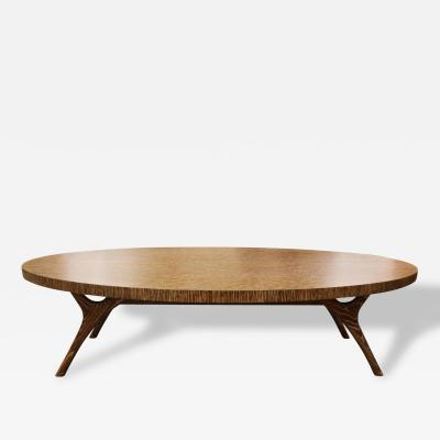 Irwin Feld Cerused Finn Leg Coffee Table