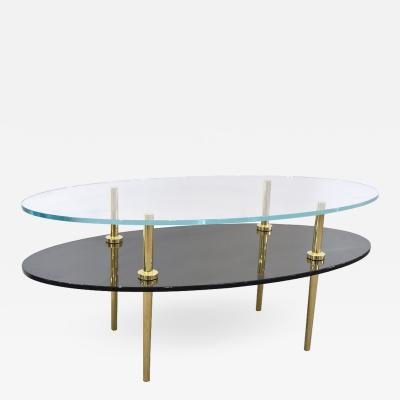 Irwin Feld JILL TIERED GLASS COFFEE TABLE