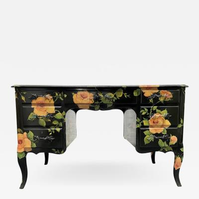 Isabel O Neil Isabel ONeil Hand Painted Kneehole Desk