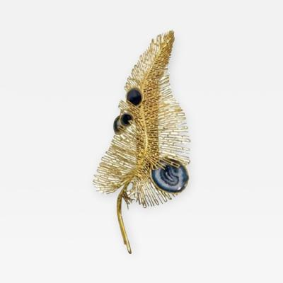 Isabelle Masson Faure Peacock feather wall light by Isabelle Masson Faure