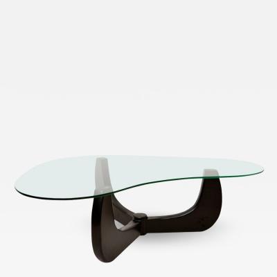 Isamu Noguchi Free Form Curve Coffee Table Base Style Isamu Noguchi 1950s Solid Black Mahogany