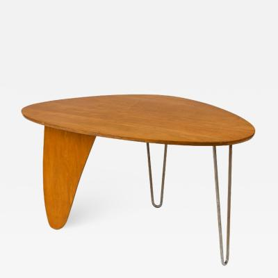 Isamu Noguchi Isamu Noguchi Birch Steel Rudder Dining Table for Herman Miller