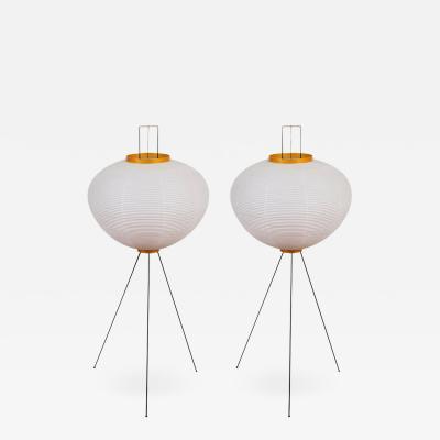 Isamu Noguchi Pair of Akari 10A Floor Lamps by Isamu Noguchi