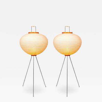 Isamu Noguchi Pair of Isamu Noguchi Akari 10A Floor Lamps