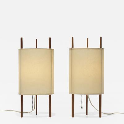 Isamu Noguchi Pair of Isamu Noguchi Model 9 Table Lamps for Knoll Associates