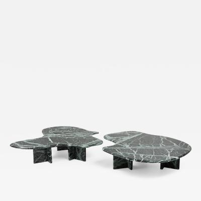 Isamu Noguchi Post modern Green Marble Coffee Table In The Manner of Noguchi 1970s