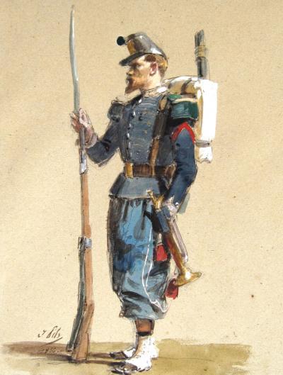 Isidore Alexandre Augustin Pils A Rifleman