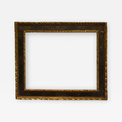 Italian 17th Century Gilded Ebonized Casetta Picture Frame 26x32