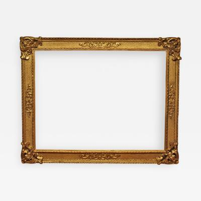 Italian 17th Century Gold Leaf Cassetta Picture Frame 44x57