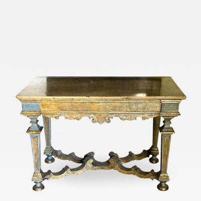 Italian 17th Century Painted and Parcel Gilt Console Table