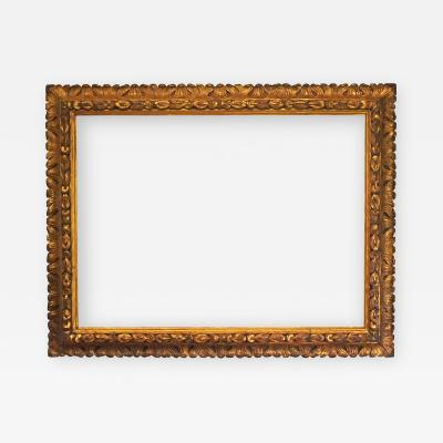 Italian 18th Century Carved Gilded Baroque Picture Frame 34x45