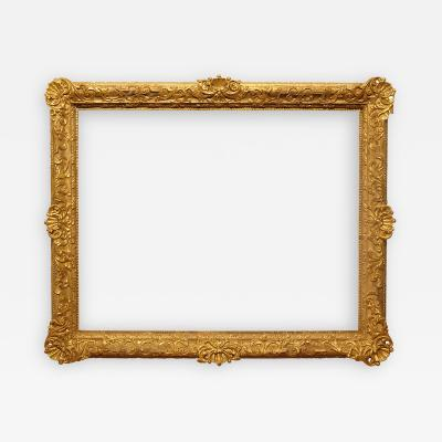 Italian 18th Century Carved Gilded Picture Frame 28x35