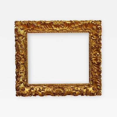 Italian 18th Century Carved Gold Leaf Picture Frame 25x30