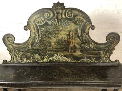 Italian 18th Century Painted Baroque Hall Bench