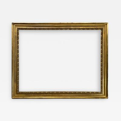 Italian 18th Century Scoop Gold Leaf Picture Frame 29x38