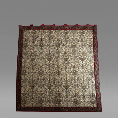 Italian 18th Century silk and silver thread wall hanging