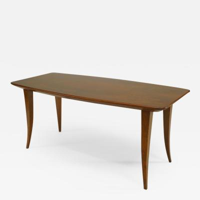 Italian 1930s Rationalism School Walnut Rectangular Coffee Table