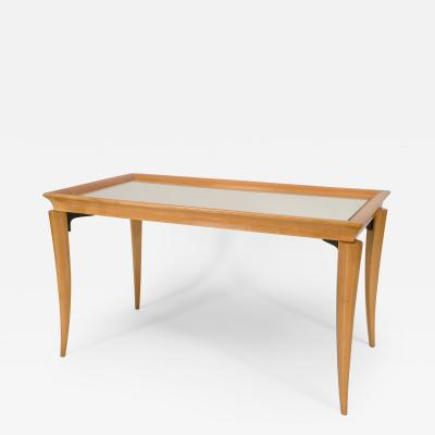 Italian 1950s Style Rectangular Sycamore Base Coffee Table