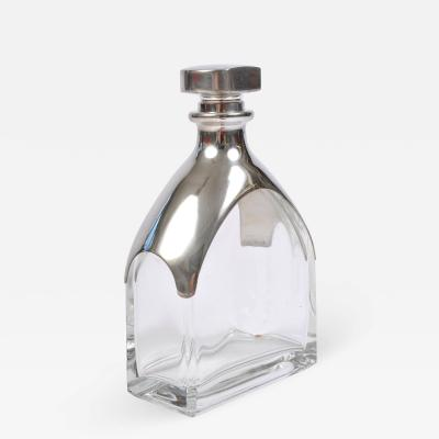 Italian 1950s chrome topped decanter