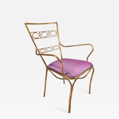 Italian 1960 s brass occasional chair