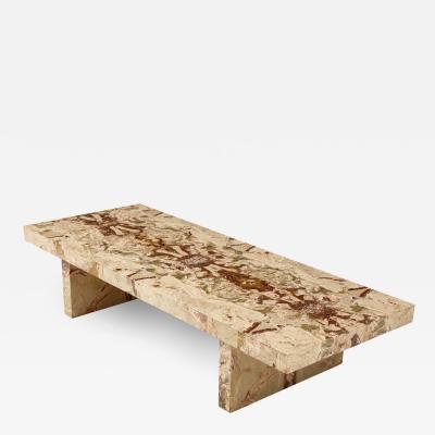 Italian 1970s Marble Rectangular Coffee Table